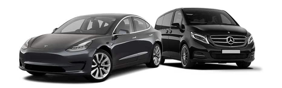 Nos véhicules Tesla et VAN Mercedes