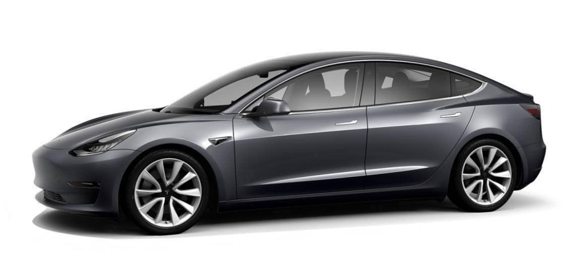 Tesla modèle 3 grise de Chauffeur Djems