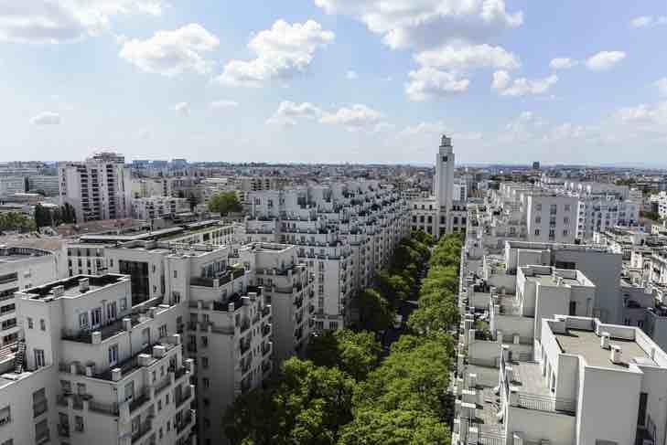 Vue panoramique Gratte-Ciel à Villeurbanne
