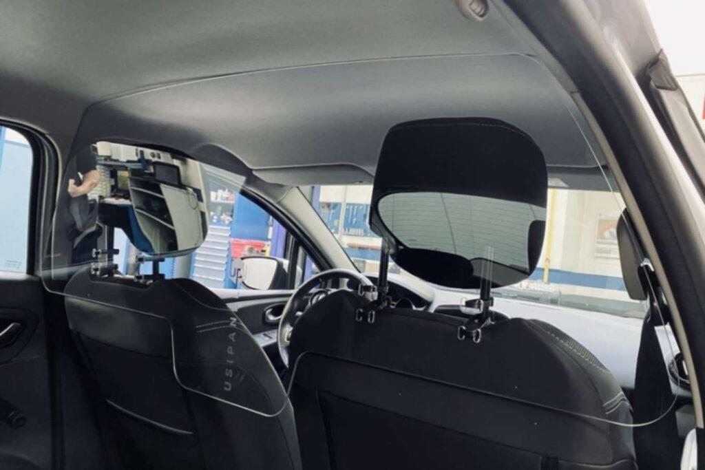 Paroi de protection pour VTC & Taxi